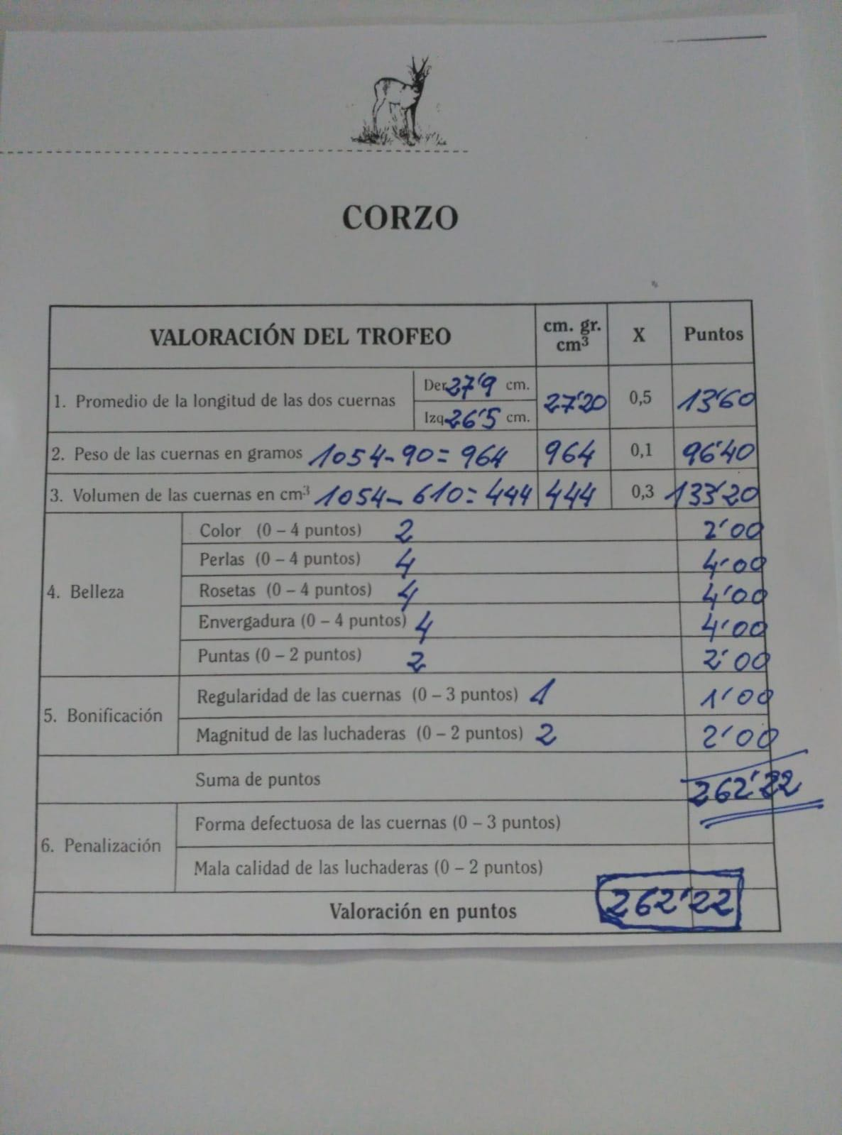 posible nuevo record de España de corzo