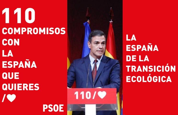 Pedro Sánchez presenta el programa electoral del PSOE.