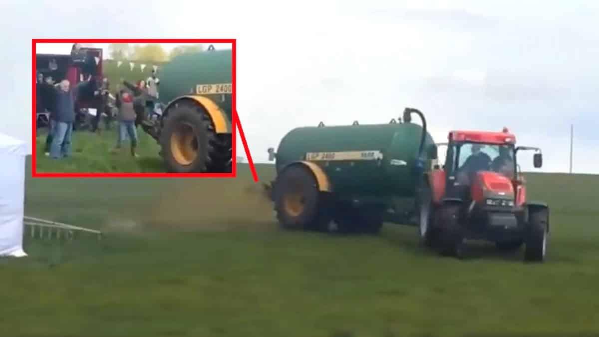 Invaden las tierras de un agricultor y los expulsa liberando una cuba de purines