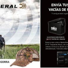BBI regala a los cazadores cajas metálicas para munición y gorras