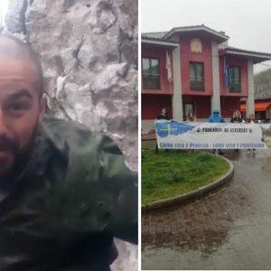 El desternillante vídeo de Nel Cañedo tras una manifestación anticaza de ocho asistentes