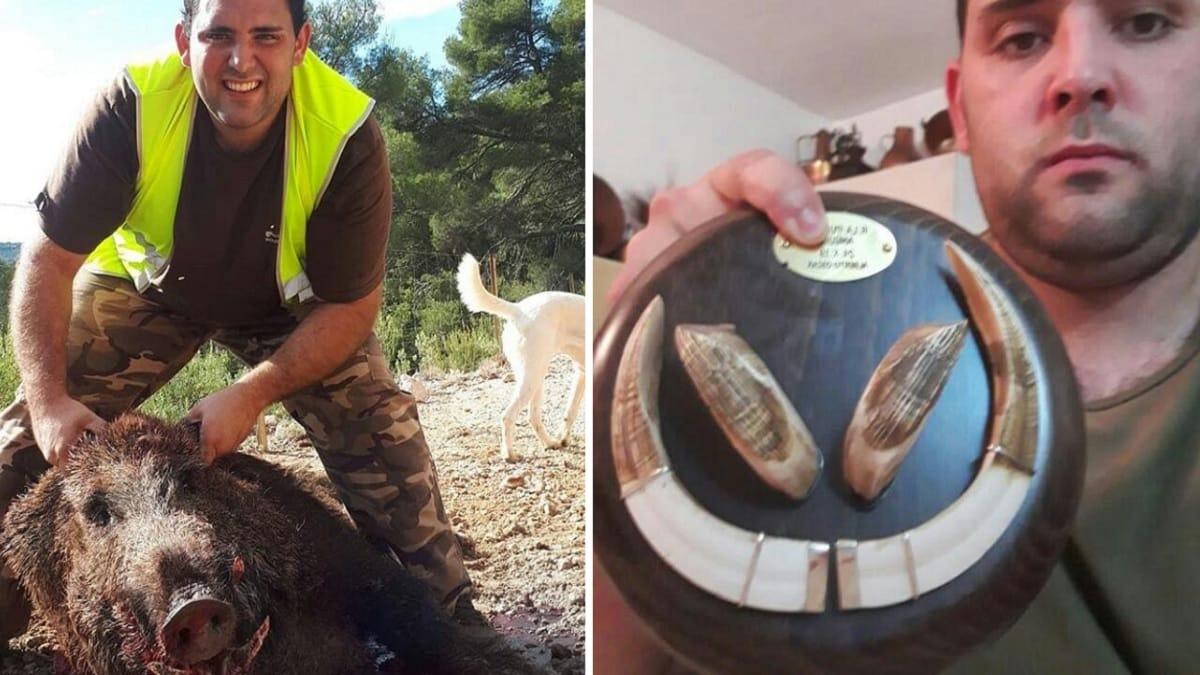 Caza a cuchillo un peligroso jabalí de 160 kilos: «Iba a reventar a la rehala»