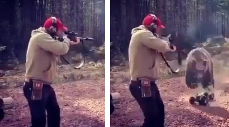 Así se entrena un cazador para defenderse del ataque de un oso