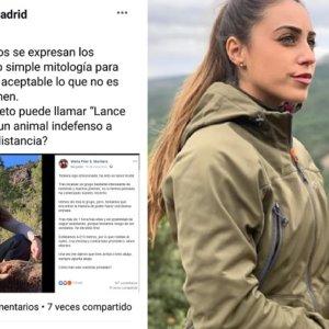 La cazadora Pilar Montero hace un llamamiento para denunciar a PACMA por acoso en Facebook