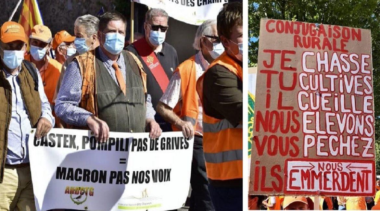Los cazadores franceses estallan contra las prohibiciones: «Si quieren una guerra civil, ¡la tendremos!»