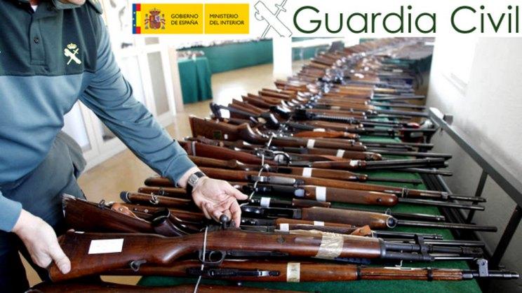 Mayo y junio, repletos de subastas de armas de la Guardia Civil