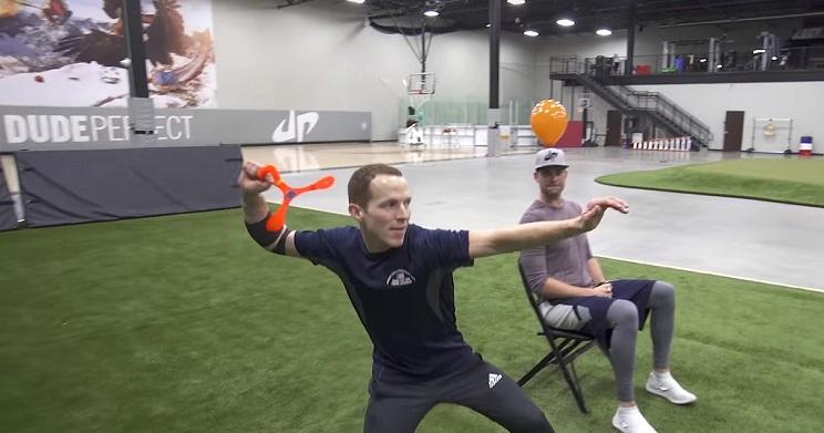 técnica de caza con boomerang