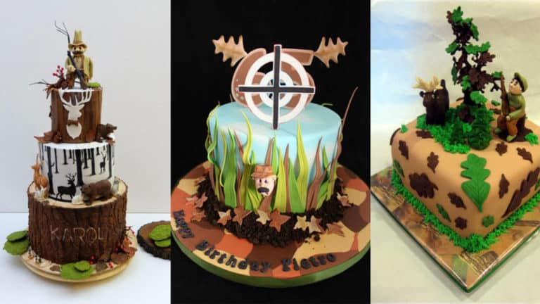 Tartas de cumpleaños para cazadores.