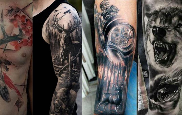 30 de los mejores tatuajes de caza jamás diseñados