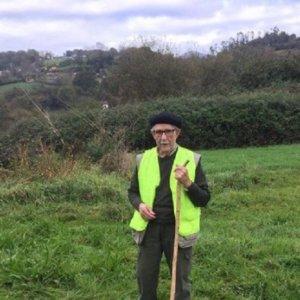Fallece a los 99 años 'Angelín', uno de los cazadores de jabalí más longevos de España