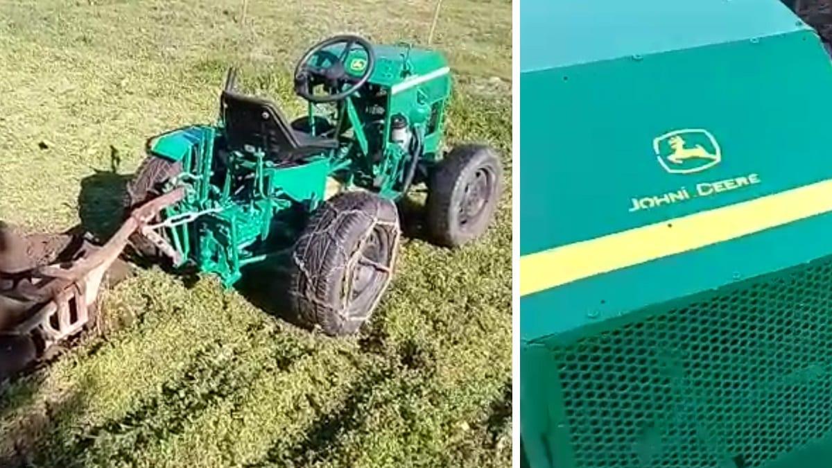 Un gallego fabrica un tractor 'casero' con sus propias manos y el vídeo arrasa en las redes