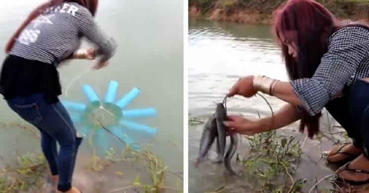El truco para pescar con diez botellas de refresco que ha dado la vuelta al mundo