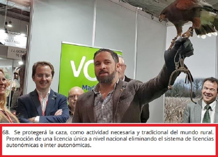 VOX incluye «proteger la caza como actividad necesaria» entre sus 100 medidas urgentes