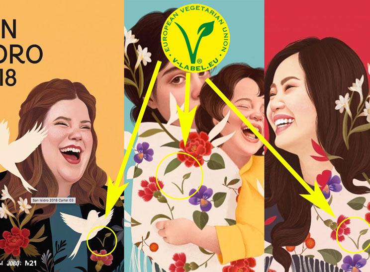 Carmena incluye publicidad subliminal vegana en los carteles de San Isidro