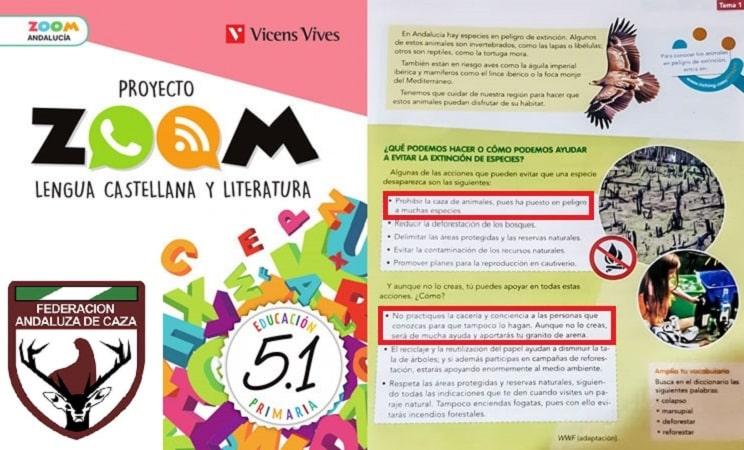 La RFEC pide a Vicens Vives que rectifique el libro que adoctrina a los niños contra la caza