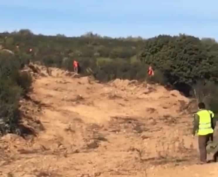 video indigna cazadores puestos muy juntos