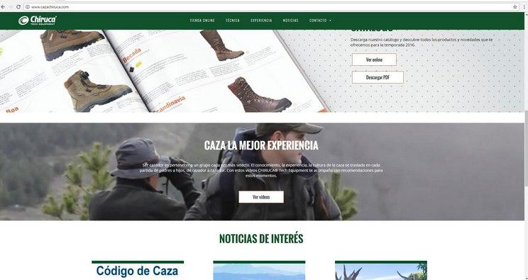 Chiruca estrena nueva web
