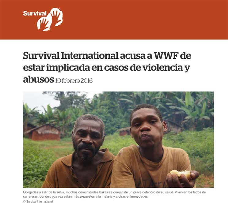 WWF, acusada de abusos y violencia contra poblaciones indígenas a través de las patrullas antifurtivos