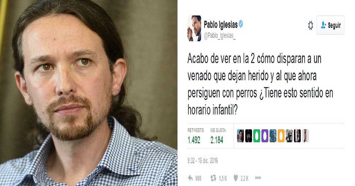Estos son los diez mejores zascas al tuit anticaza de Pablo Iglesias